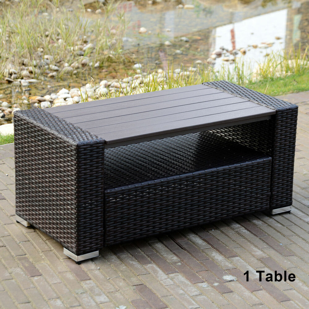 new style outdoor rattan wicker sofa set coffee tea table. Black Bedroom Furniture Sets. Home Design Ideas