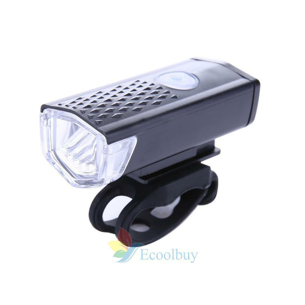 300LM LED Rechargeable Bycicle Light Headlamp Headlight ...