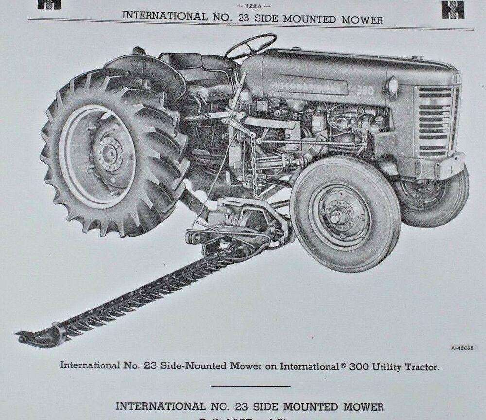 IH International Farmall No 23 Mid Side Mount Highway Mower Parts Catalog  Manual | eBay