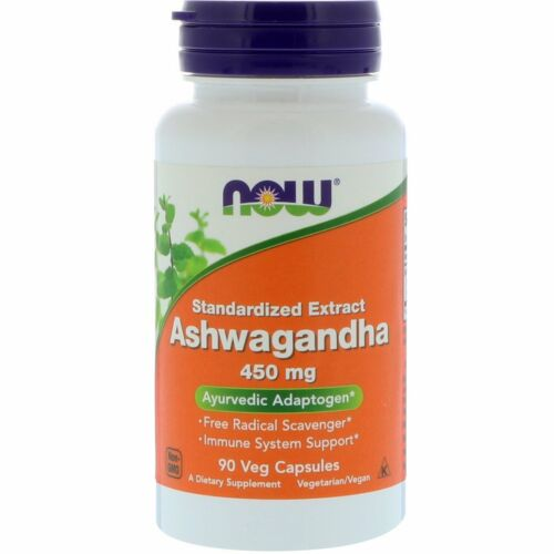 Ashwagandha - 90 - 450mg Veggie Caps by Now Foods - Immune System Support