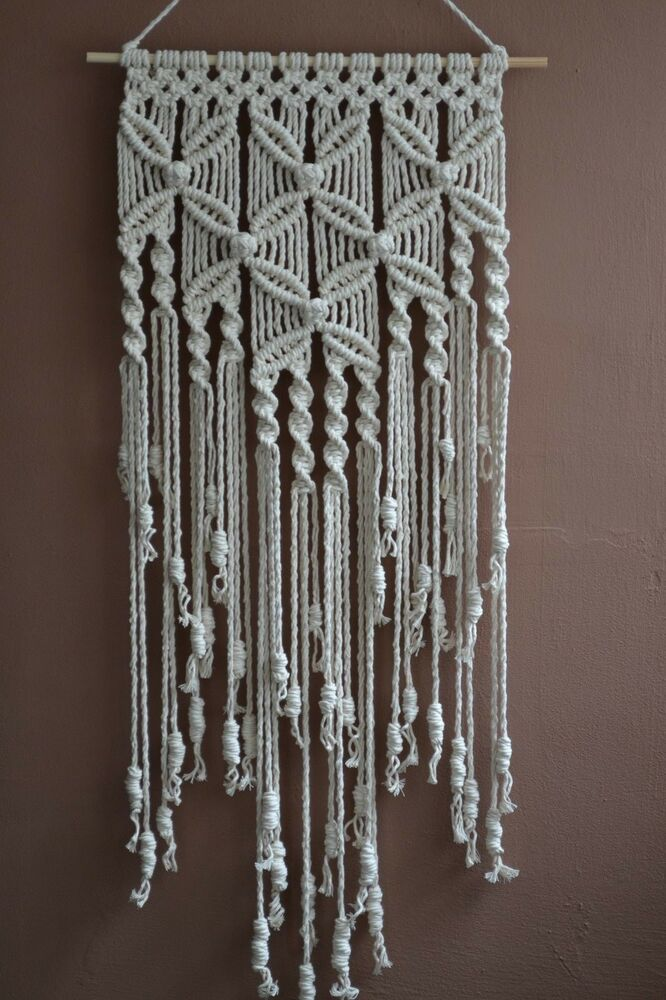 macrame history home decorative modern macrame wall hanging ebay 8165