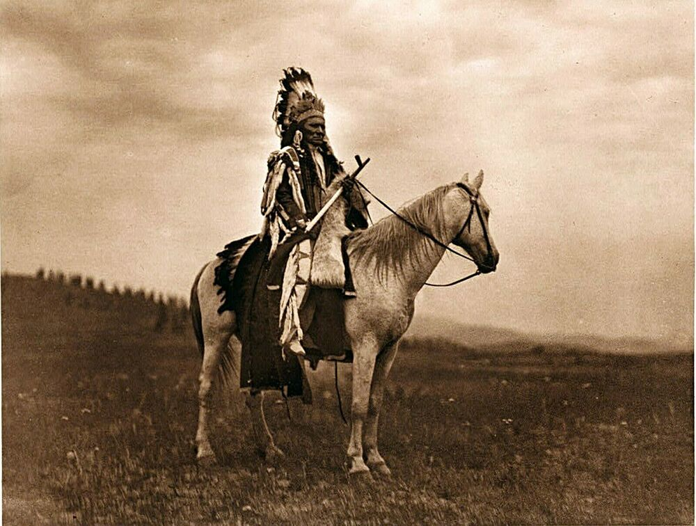 1911 CHIEF NATIVE AMERICAN INDIAN, Southwestern, Horses ...