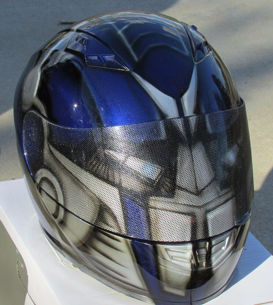 Motorcycle Helmets Dot >> Transformers Optimus Prime Custom Airbrush Painted Motorcycle Helmet! | eBay