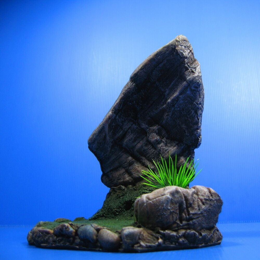 Mountain aquarium decorations rock cave stone ornament for Stone mountain fishing