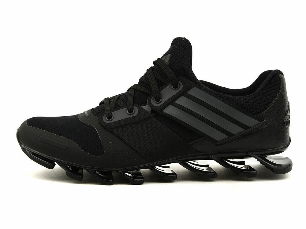 best service 9e499 86b72 ADIDAS SPRINGBLADE SOLYCE MENS RUNNING TRAINERS BLACK UK SIZE 6.5 - 12
