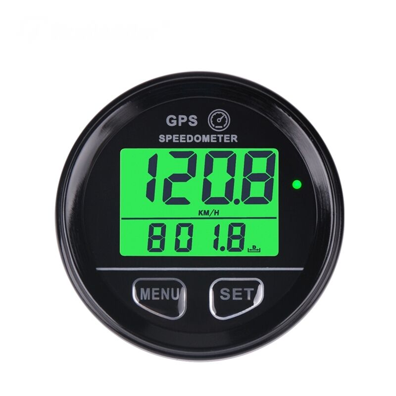 Gps Speedometer Gauge 60mm Odometer 12v 24v Green