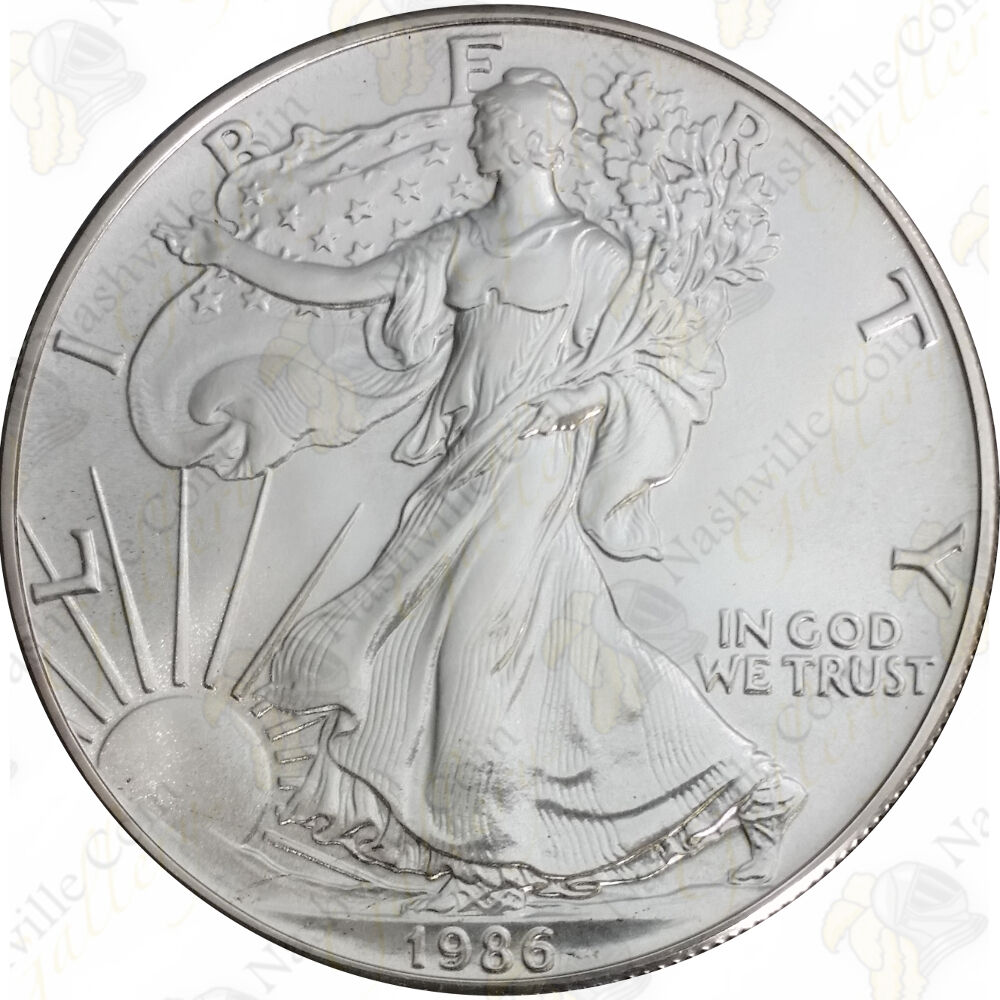 1986 1 Oz American Silver Eagle Brilliant Uncirculated