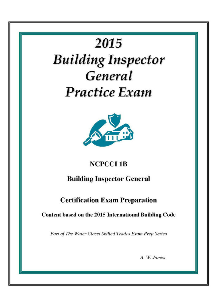 2015 NCPCCI 1B Building Inspector General Practice Exam on USB Flash ...