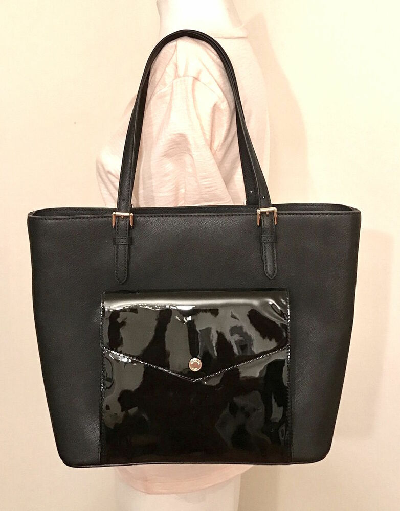 a65d524aa4df Michael Michael Kors Jet Set Black Large Multifunction Pocket Tote  190049914861 | eBay