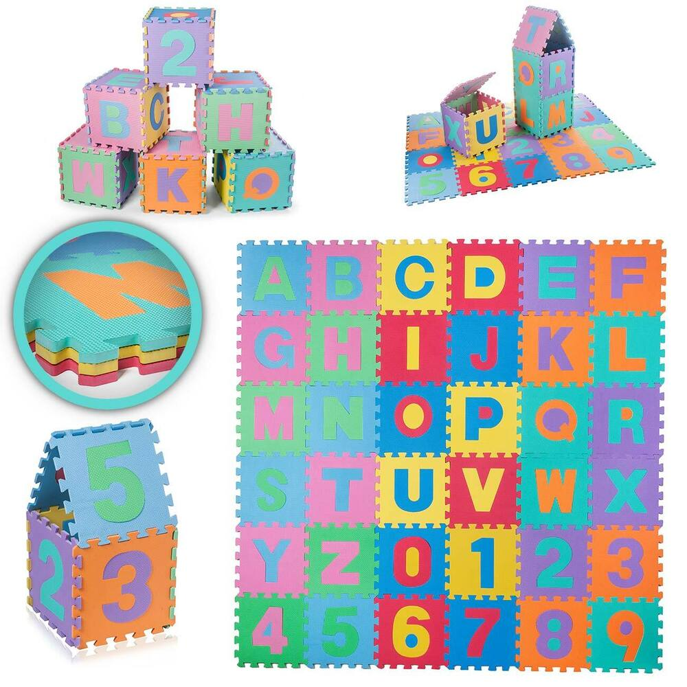 puzzlematte spielmatte spielteppich kinderteppich eva schaumstoffmatte baby vivo ebay. Black Bedroom Furniture Sets. Home Design Ideas