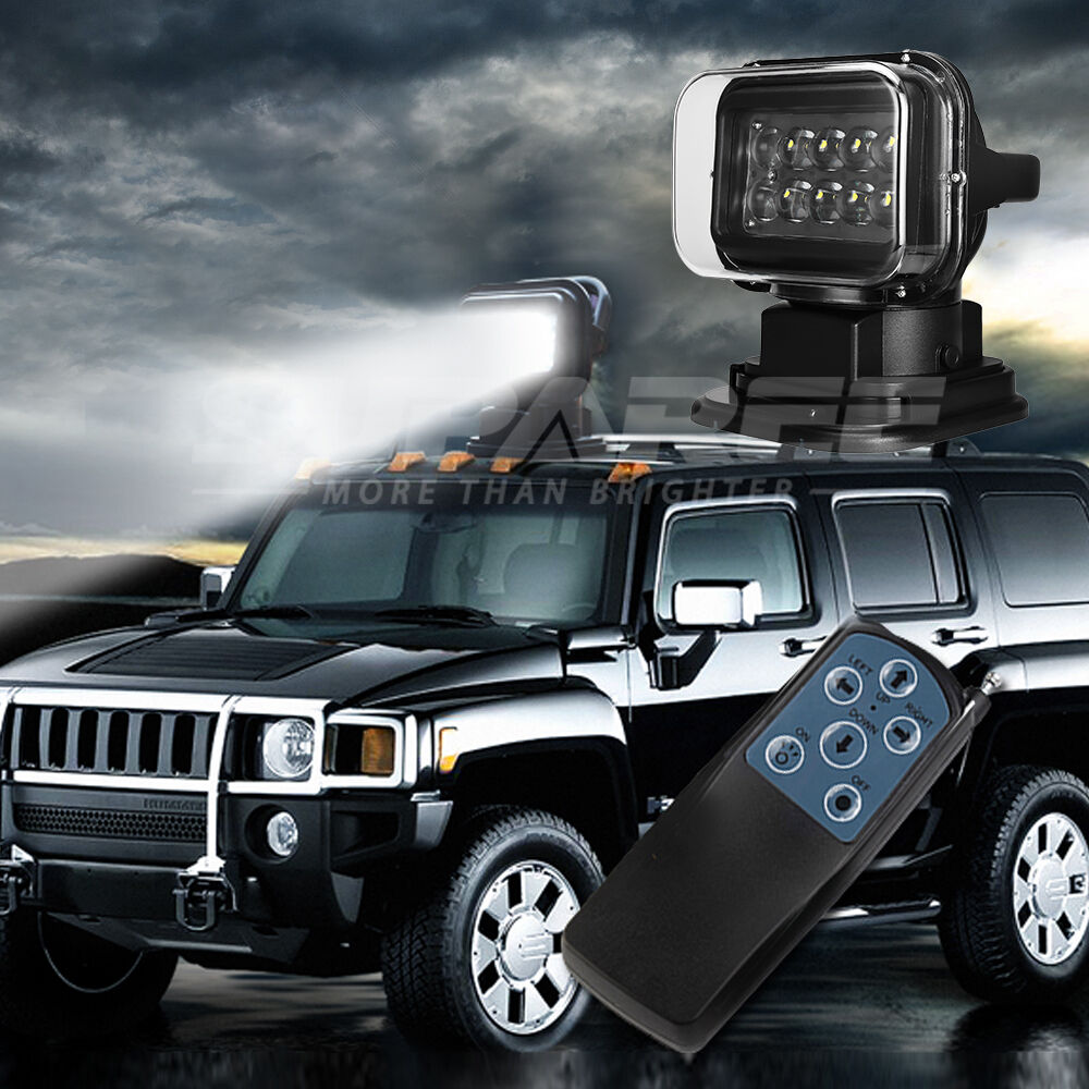 Led Spotlight Truck: 50W 7'' Remote Control LED Search LIGHTS 360° BOAT JEEP