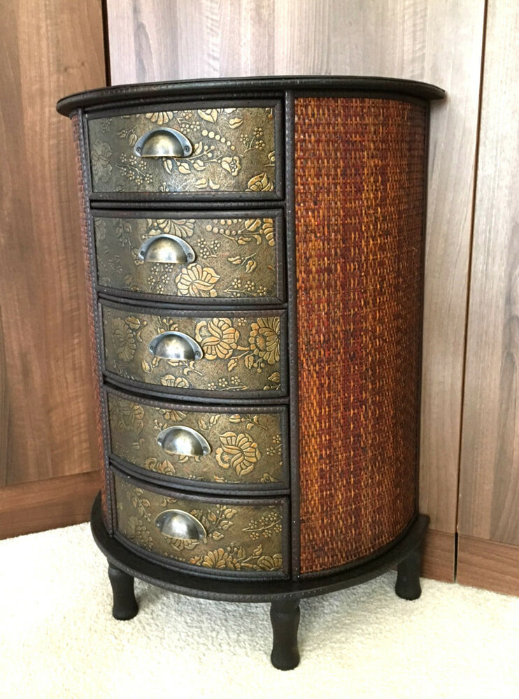 Chinese Chest Of Drawers Storage Unit Oriental Antique