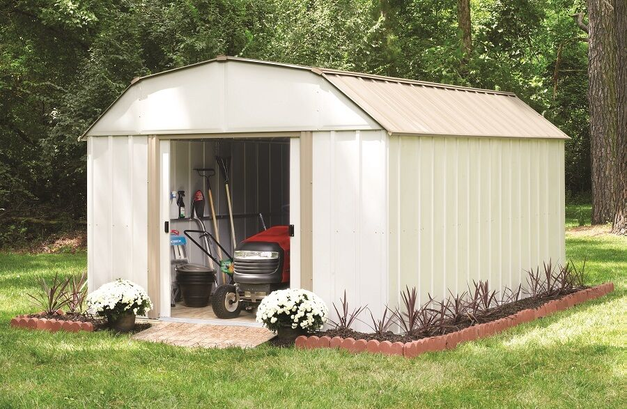 Steel Outdoor Shelters : Arrow lexington shed lx storage shelter