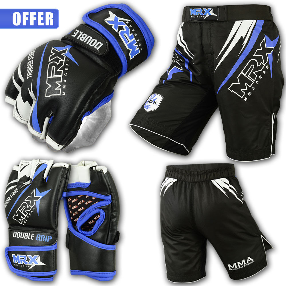 Mma Gloves Shorts Ufc Cage Grappling Kickboxing Fight Gear