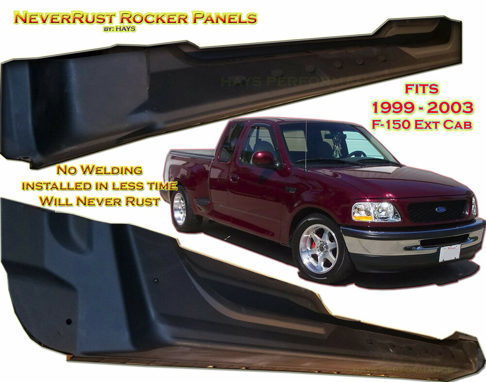2008 Ford F150 Extended Cab >> Ford Truck F150 Extended CAB Rocker Panel set by:NeverRust fits 4door 99 - 03 | eBay