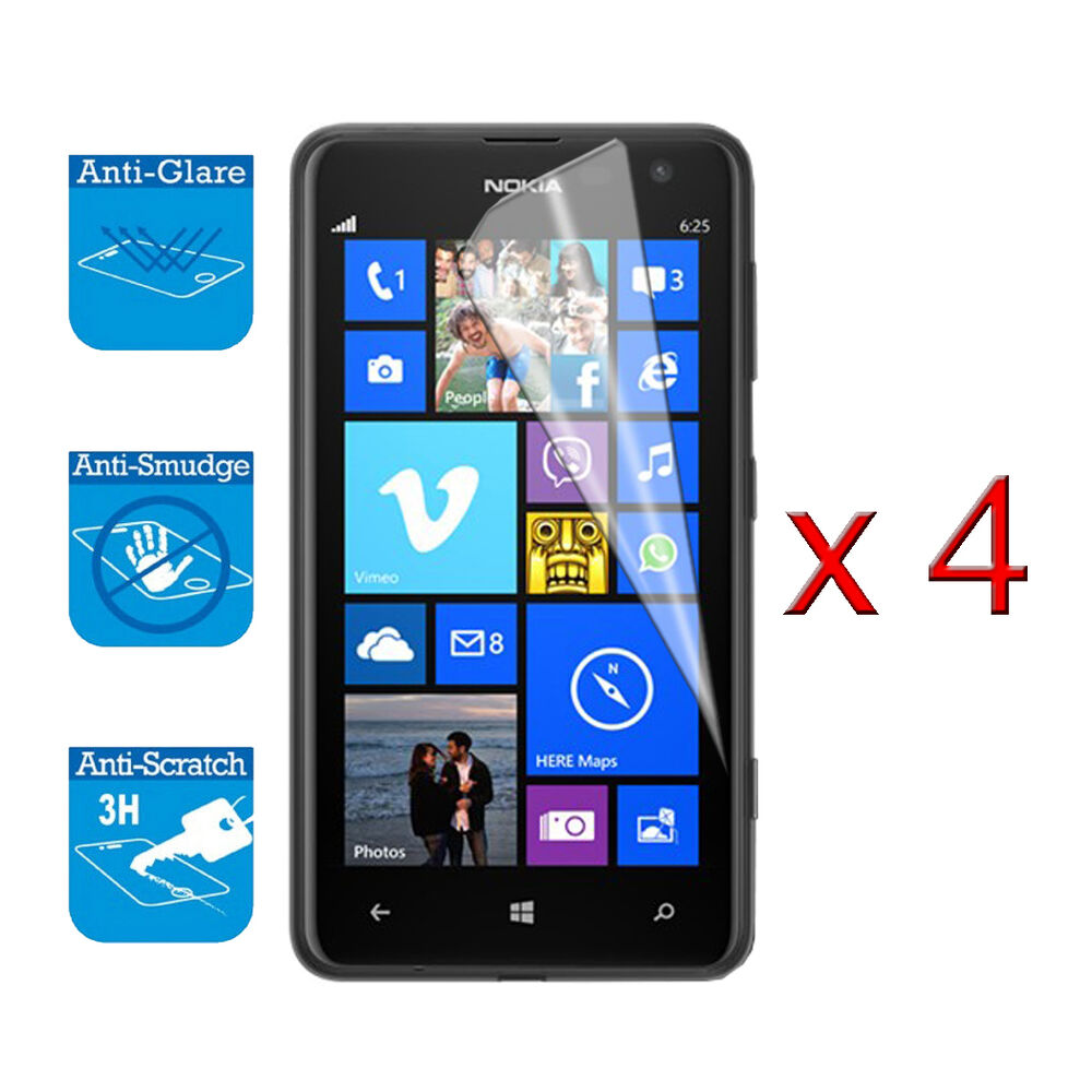 the latest be984 be1ba 4 x Screen Cover Guard Shield Film Foil For Nokia Lumia 625 Clear Protector  | eBay