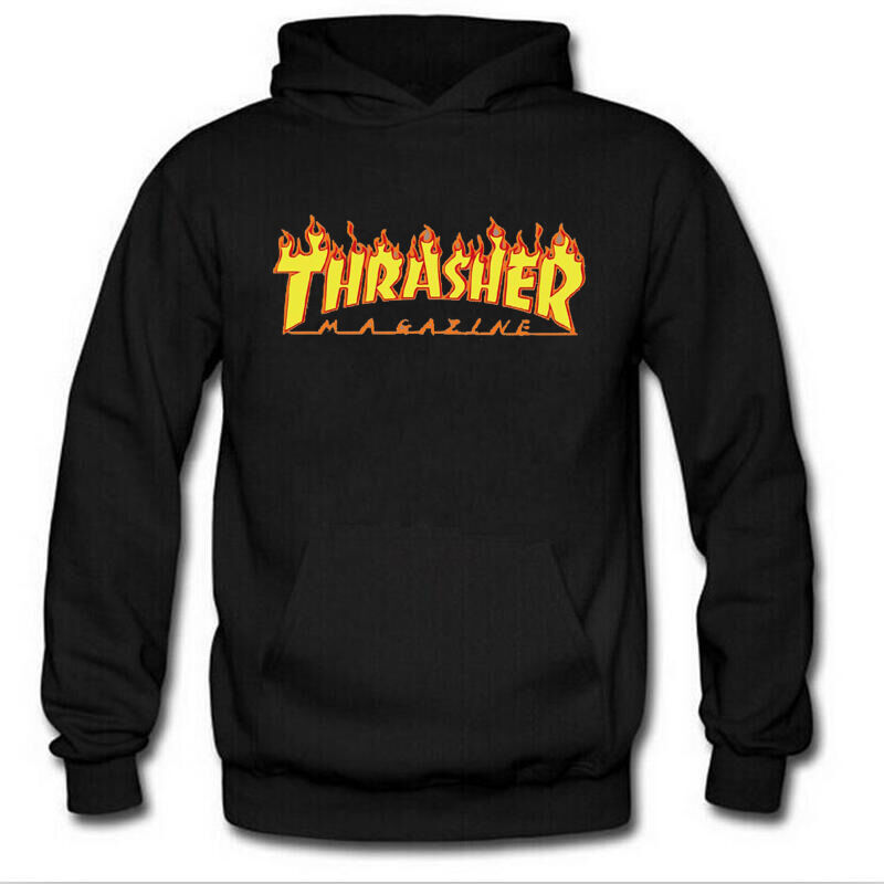 fashion men 39 s hoodie sweater hip hop skateboard thrasher. Black Bedroom Furniture Sets. Home Design Ideas