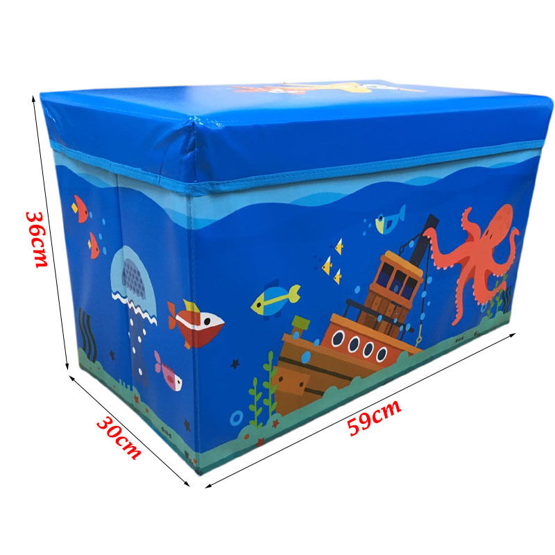 Kids Collapsible Ottoman Toy Books Box Storage Seat Chest: Kids Childrens Large Storage Toy Box Boys Girls Books