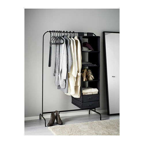 clothes rail 99cm black white ikea mulig rack coat rail. Black Bedroom Furniture Sets. Home Design Ideas