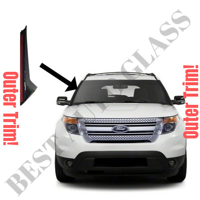2011-19 Ford Explorer Windshield-Outer Trim Pillar Molding Passenger Right Side