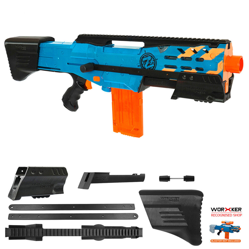 Worker MOD F10555 Combo Pump Kit ButtStock Rail 3D Print for LongShot Modify  Toy
