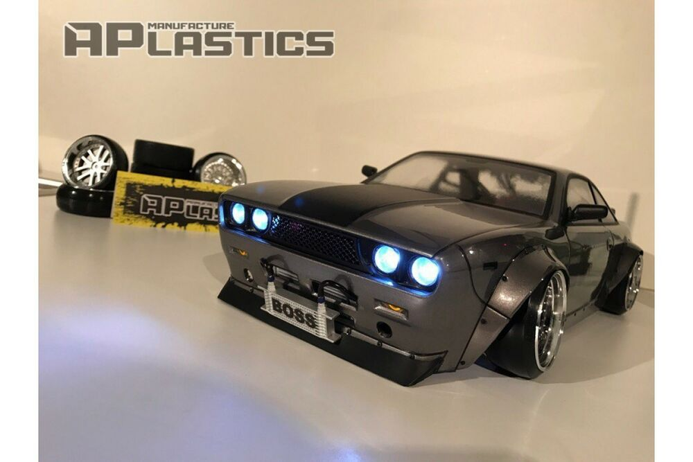 new unpainted aplastics rc drift body 1 10 silvia s14 boss 510 bluebird style ebay. Black Bedroom Furniture Sets. Home Design Ideas