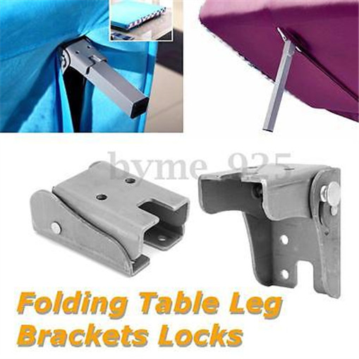 Lots diy folding extension table leg bracket fitting lock for Table locks acquired immediately 99