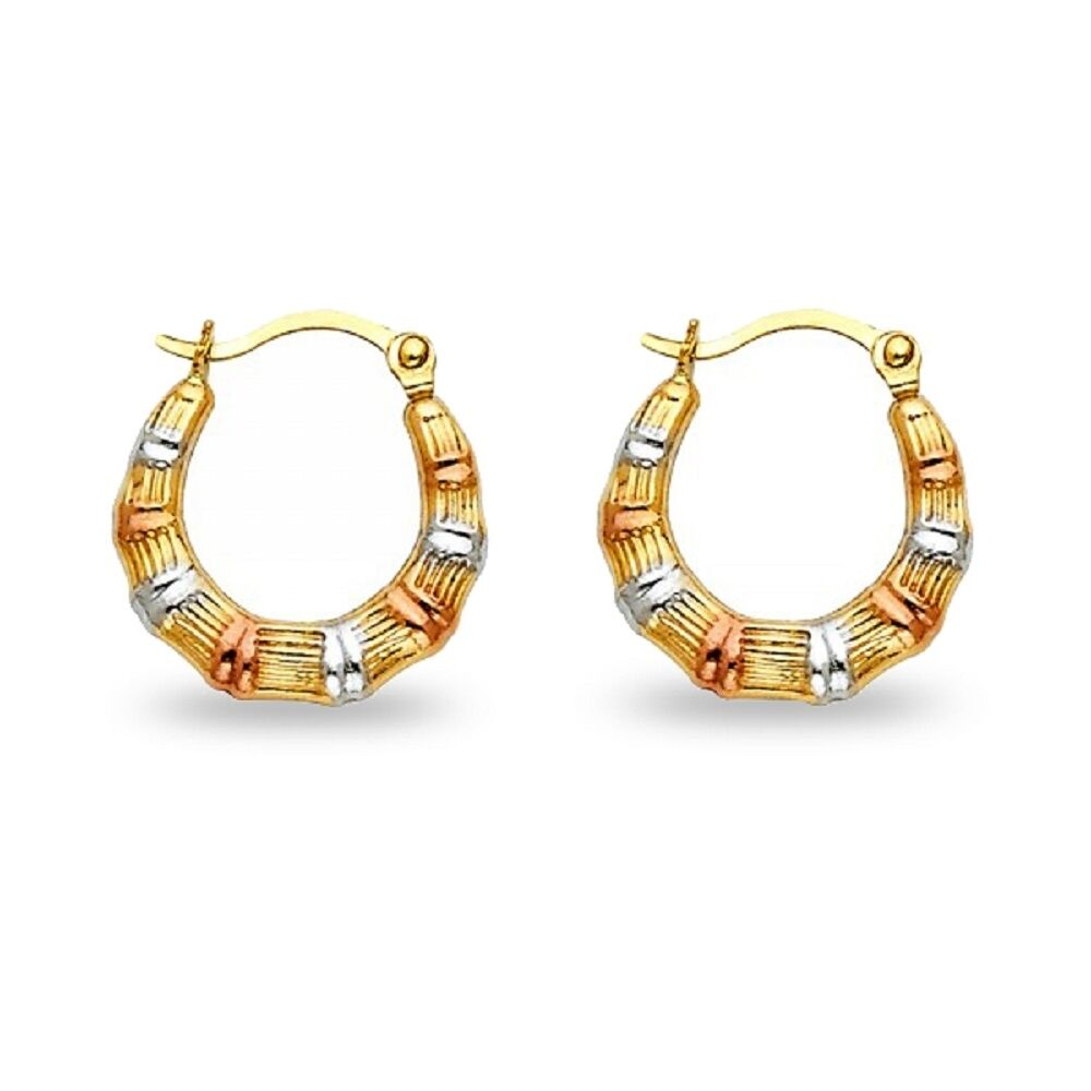 yellow gold polished satin hoop solid small round cut s matte diamond earrings itm