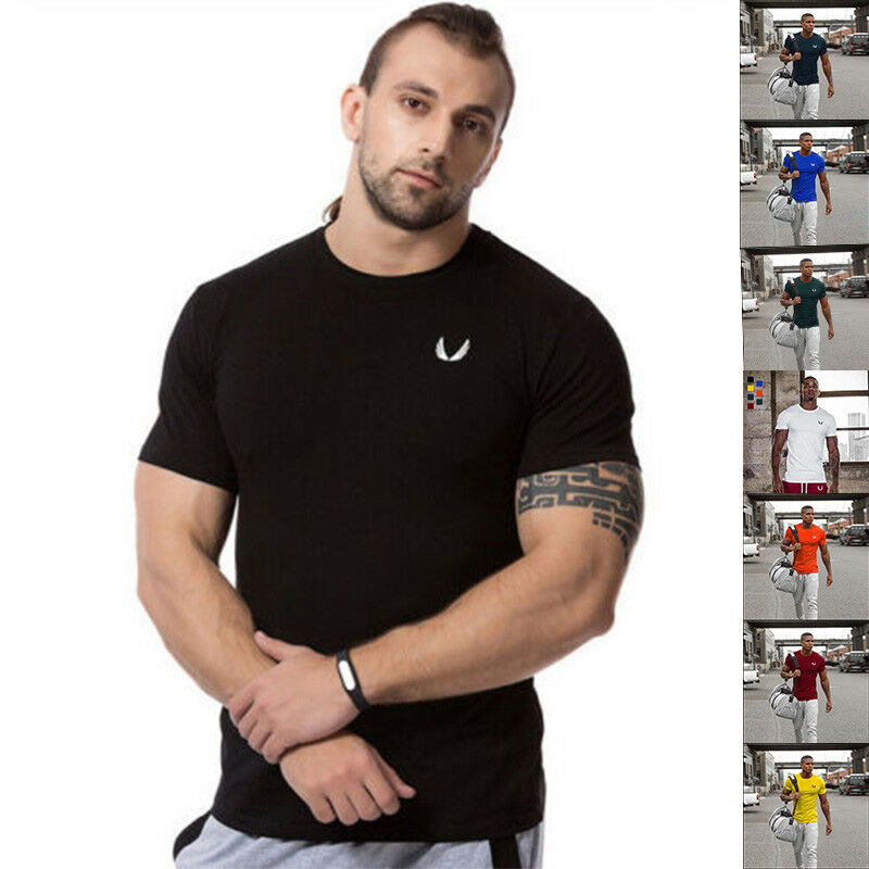 cb3ad01f80 Details about Men's Cotton Short Sleeve Fashion Summer Casual T-shirt Male  Workout Tops Tees