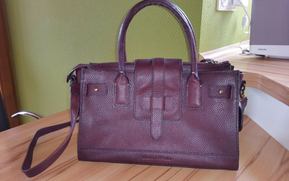 marc o 39 polo tasche damen leder rotbraun bordeaux echtleder marco polo ebay. Black Bedroom Furniture Sets. Home Design Ideas