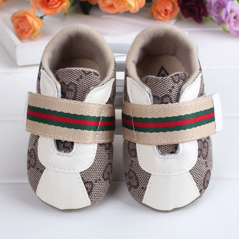 Beige Cute Baby Boy/Girl Shoes Soft Sole Crib Toddler ...
