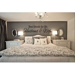 Kyпить BEST FRIENDS FOR LIFE HUSBAND & WIFE Wall Art Decal Quote Words Decor 23