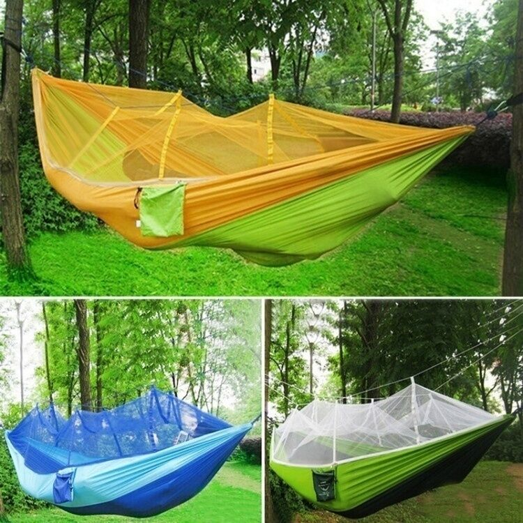 Portable Travel Camping Nylon Fabric Parachute Hammock