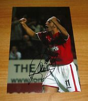 PAOLO DI CANIO GENUINE HAND SIGNED AUTOGRAPH 12x8 SIGNATURE PHOTO CHARLTON