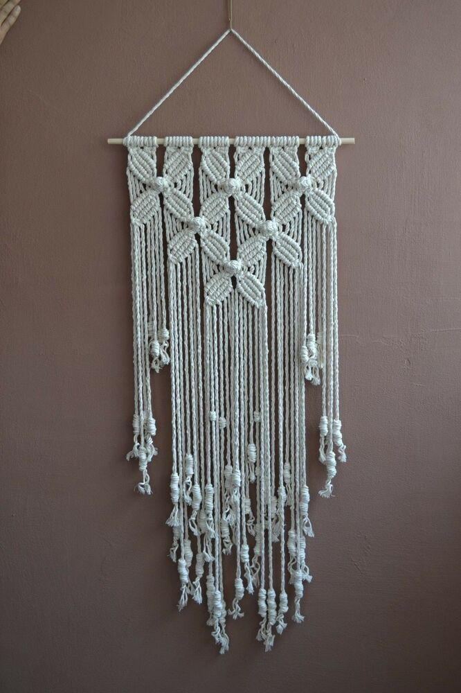 home decorative modern macrame wall hanging ebay. Black Bedroom Furniture Sets. Home Design Ideas