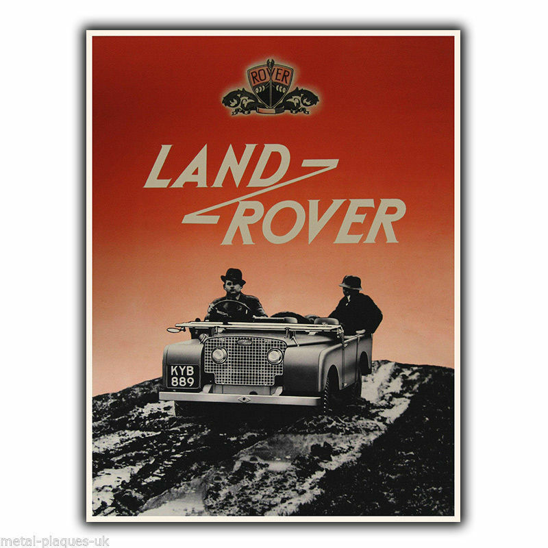 land rover vintage retro old advert metal wall sign plaque poster print ebay. Black Bedroom Furniture Sets. Home Design Ideas