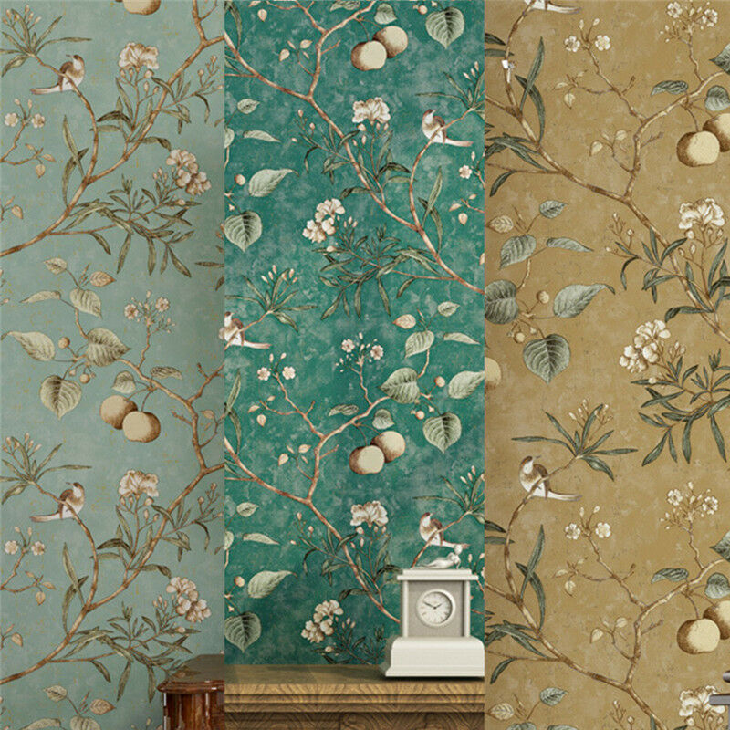 Apple tree retro pastoral style wallpaper roll mural for Apple tree mural