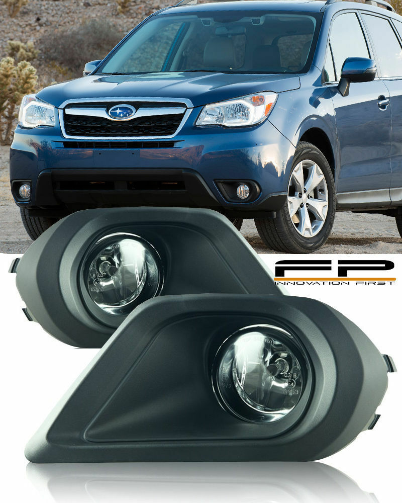 For 2014 2015 Subaru Forester Fog Lights Clear Lens Wiring Switch 2007 Wrx Light Harness Complete Kit Ebay
