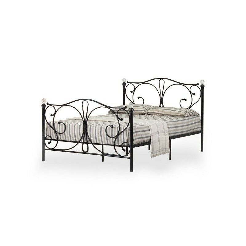 vorverkauf metallbett ehebett doppelbett 160x200 ehebett schwarz mit lattenrost ebay. Black Bedroom Furniture Sets. Home Design Ideas