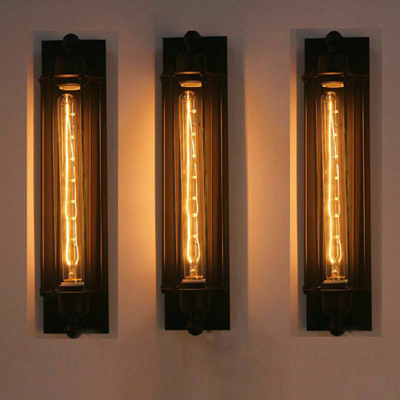 New Long Wall Lamp Retro Light Rustic Sconce Vintage