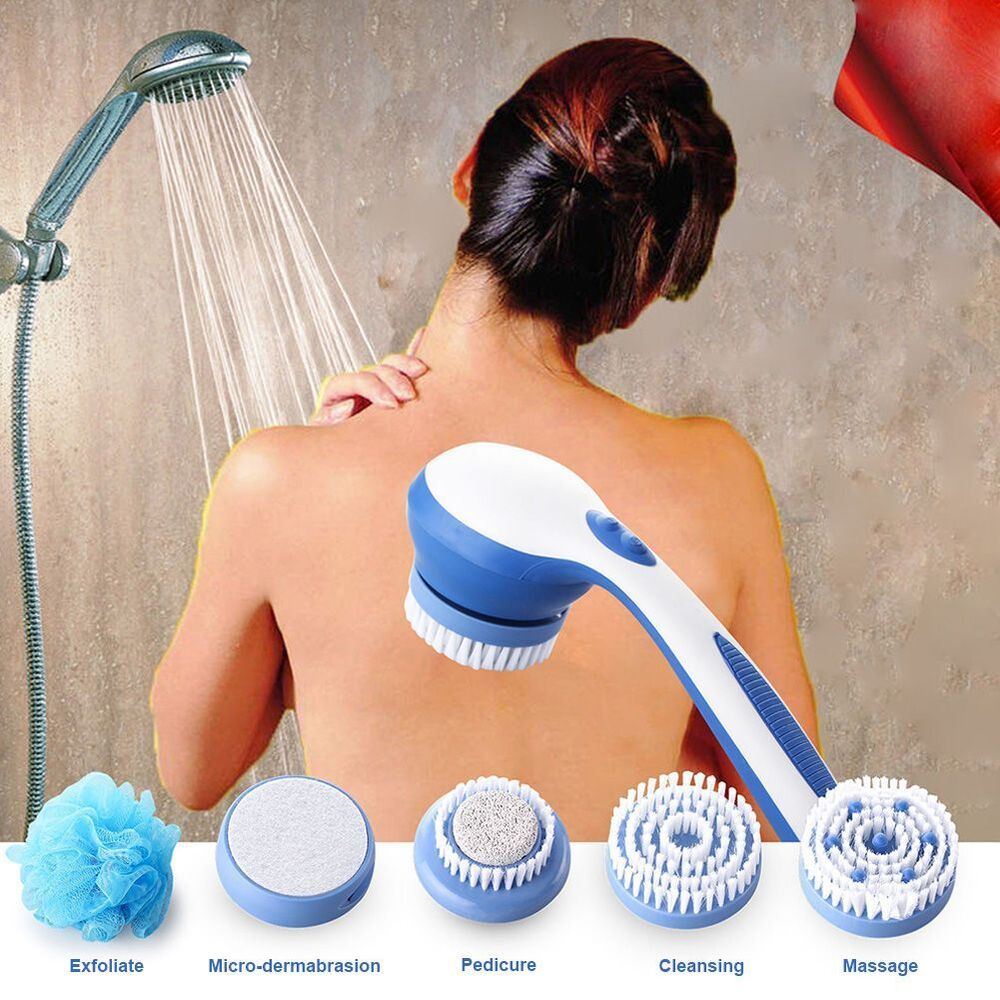 New Cleaning Bath Spin Shower Brush Body Back Massage