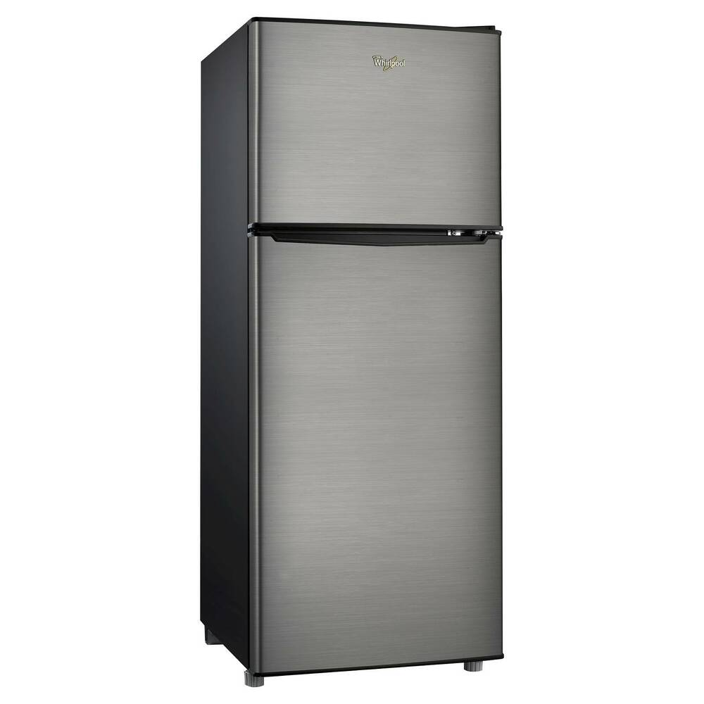 Whirlpool 4 6 cu ft compact refrigerator stainless for 0 1 couch to fridge