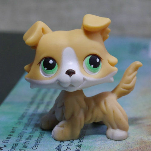 lps 272 collection littlest pet shop yellow colly collie