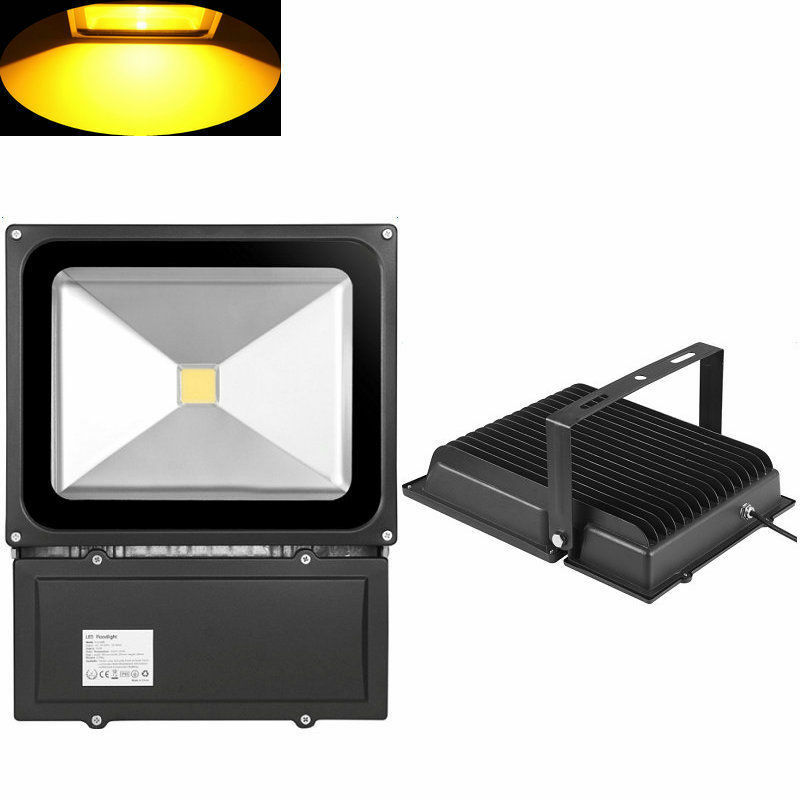 100w led fluter flutlicht au en strahler warmwei scheinwerfer outdoor lampe ebay. Black Bedroom Furniture Sets. Home Design Ideas