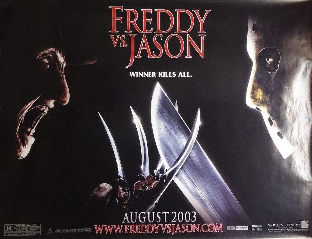 Movie Posters 2003: Freddy VS Jason 44x58 Giant Subway Movie Poster 2003