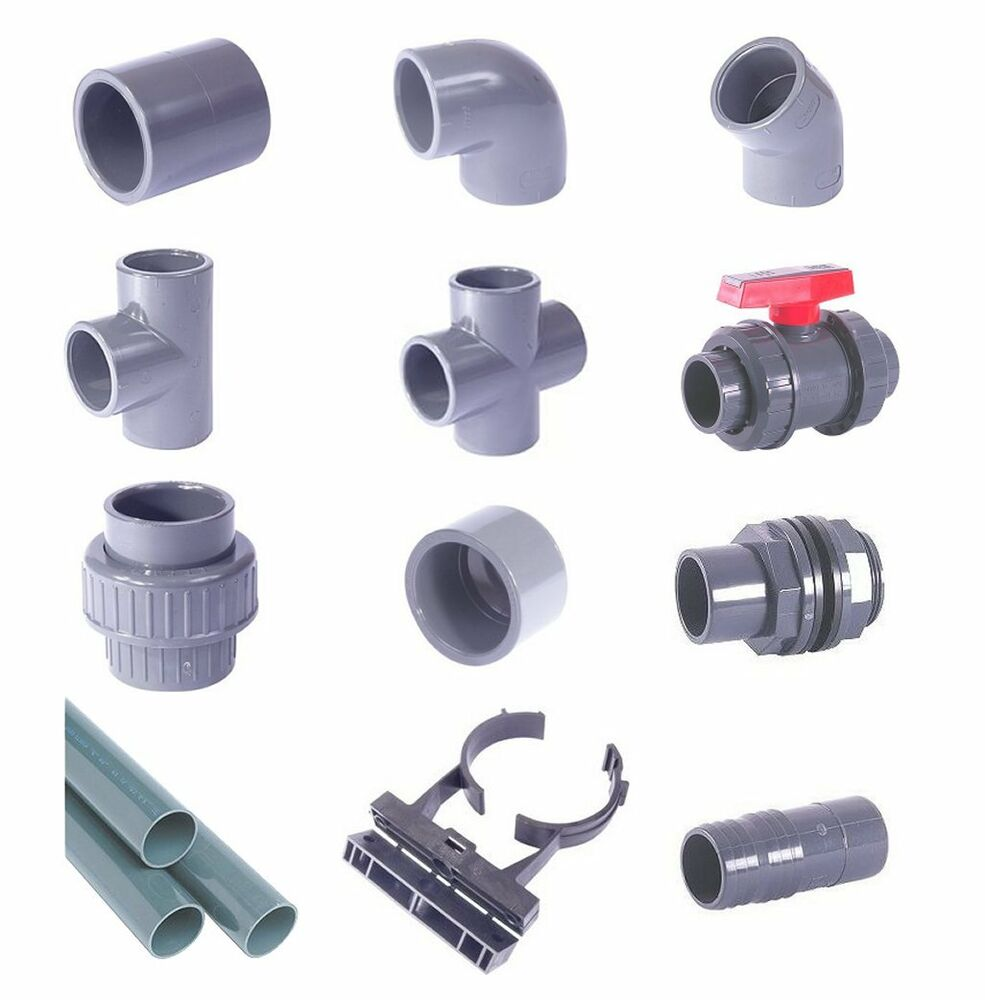 Metric grey pvc pressure pipe and fittings mm for