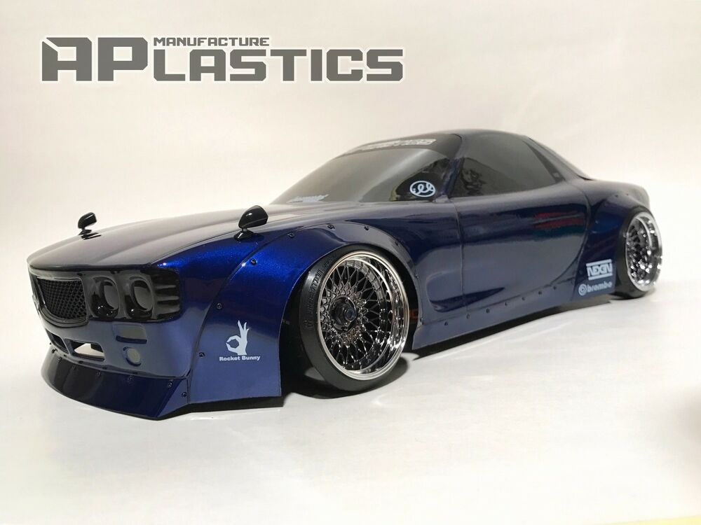 new unpainted aplastics rc drift car body 1 10 maza rx7 fd boss style ebay. Black Bedroom Furniture Sets. Home Design Ideas