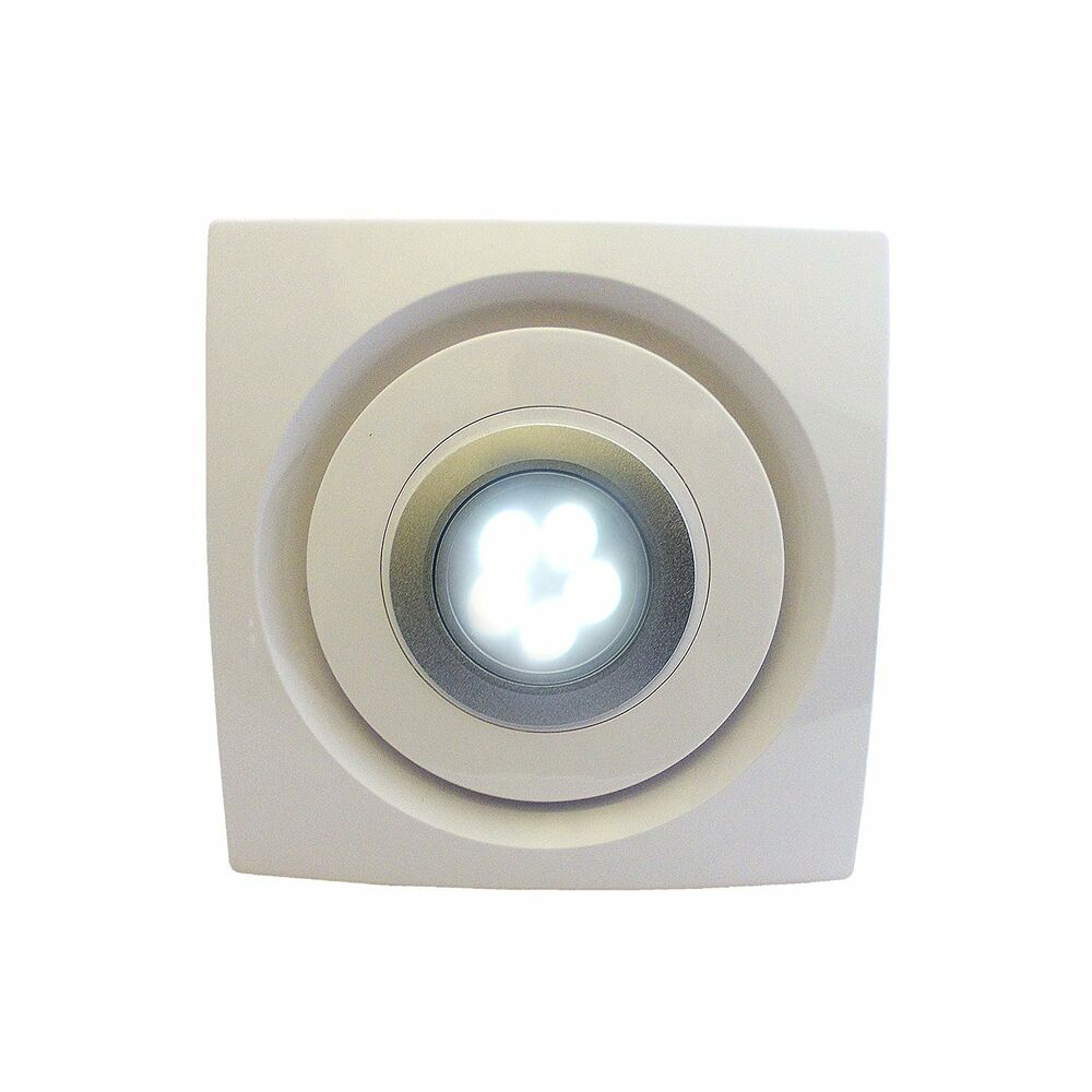 Bathroom kitchen ceiling extractor exhaust fan led light 4 for Bathroom exhaust fan with led light
