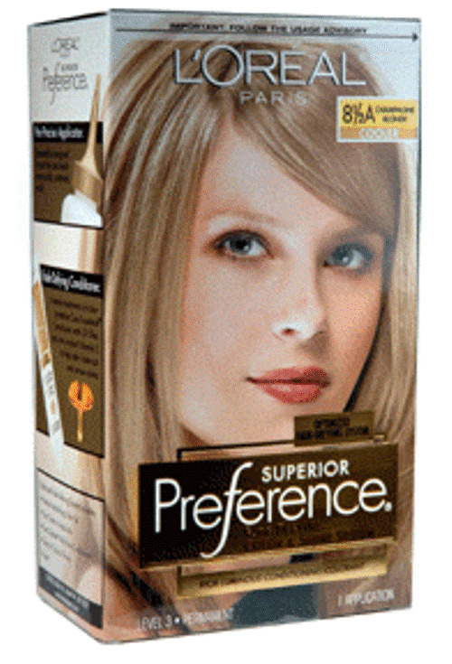 L Oreal Preference Hair Color 8 5a Champagne Blonde