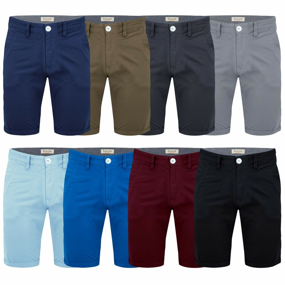 Details about Mens Chino Shorts by Stallion Summer Cotton Jeans Half Pant  Casual Designer New f9a52e4df